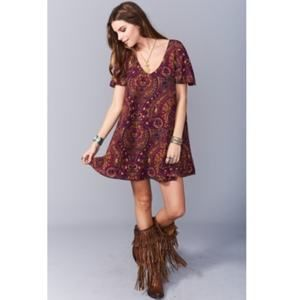 Show me your Mumu Princess Plum Kylie Mini Dress
